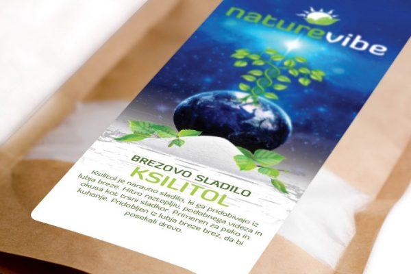 NatureVibe, XYLITOL Ksilitol, brezov sladkor,
