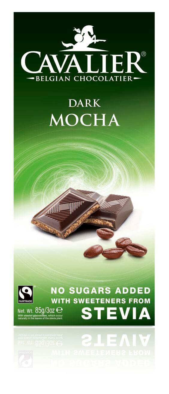 Cavalier temna čokolada (55%) z okusom kave (85g)