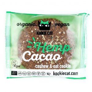 Kookie Cat piškot s semeni konoplje, ekološki piškot