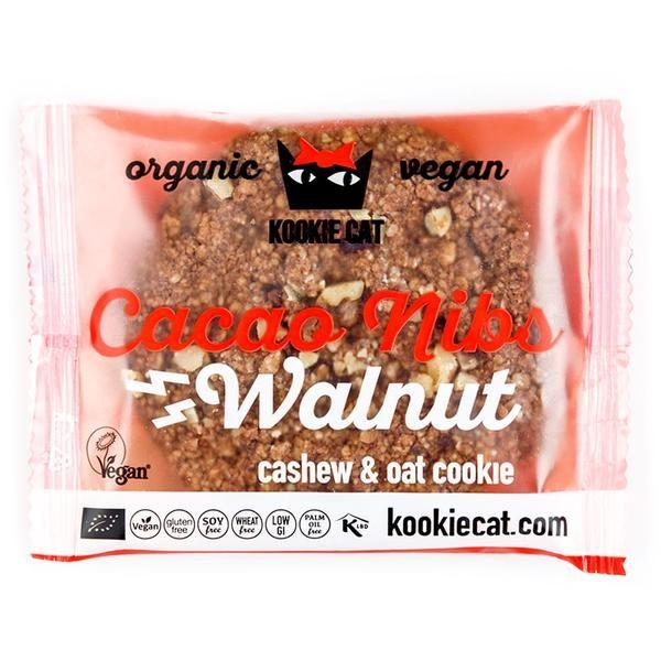 Kookie Cat piškot z zrni kakava in orehi, ekološki piškot, gluten free