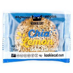 Kookie Cat piškot s chia semeni in limono, ekološki piškot, gluten free