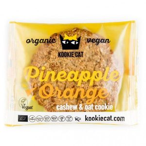 Kookie Cat piškot z ananasom in pomarančo, ekološki piškot, gluten free