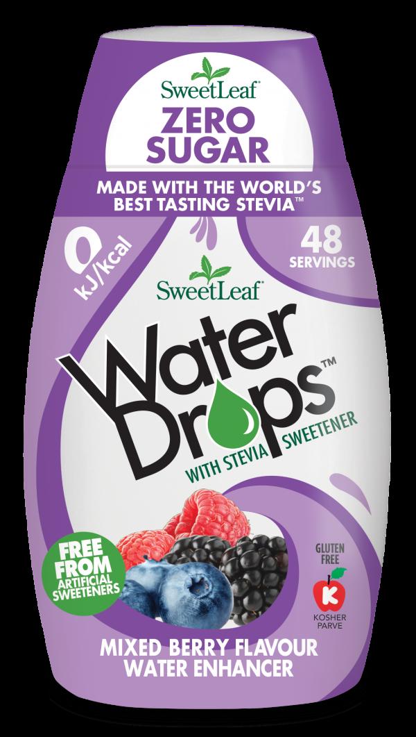 Naravno sladilo za vodo s stevijo - SweetLeaf Water Drops - naraven okus - gozdni sadeži