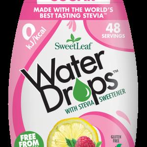 Sweetleaf Water Drops Naravno sladilo za vodo s stevijo - SweetLeaf Water Drops - naraven okus - malina - limonada