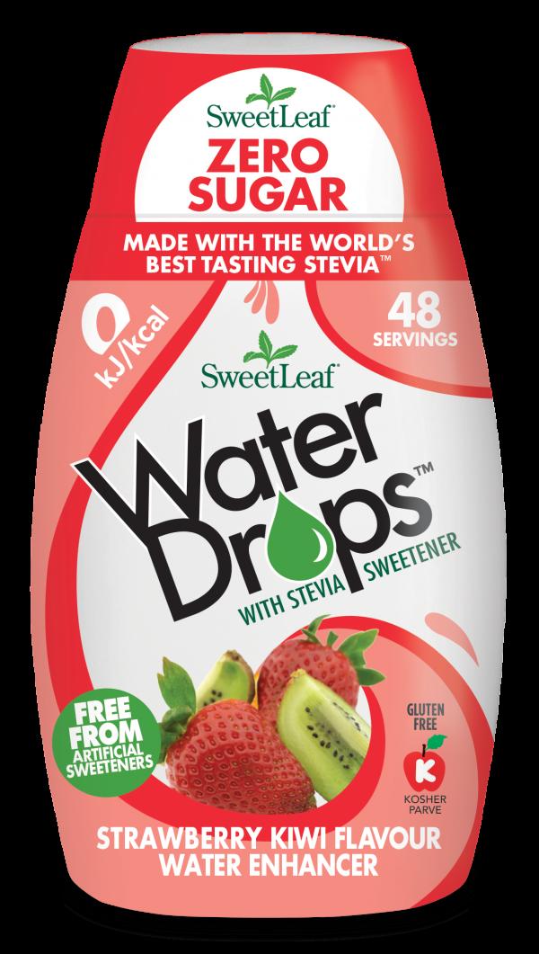Sweetleaf Water Drops Naravno sladilo za vodo s stevijo - SweetLeaf Water Drops - naraven okus - jagoda - kivi