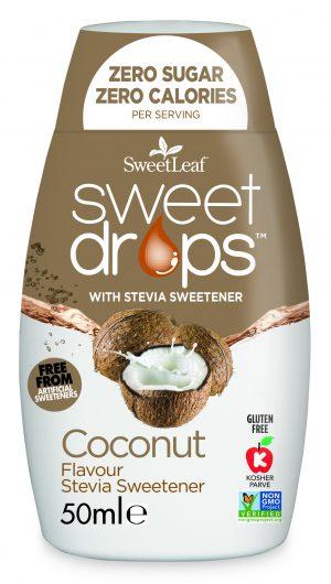 Naravno sladilo Sweetleaf SweetDrops stevia kapljice naravna aroma kokos