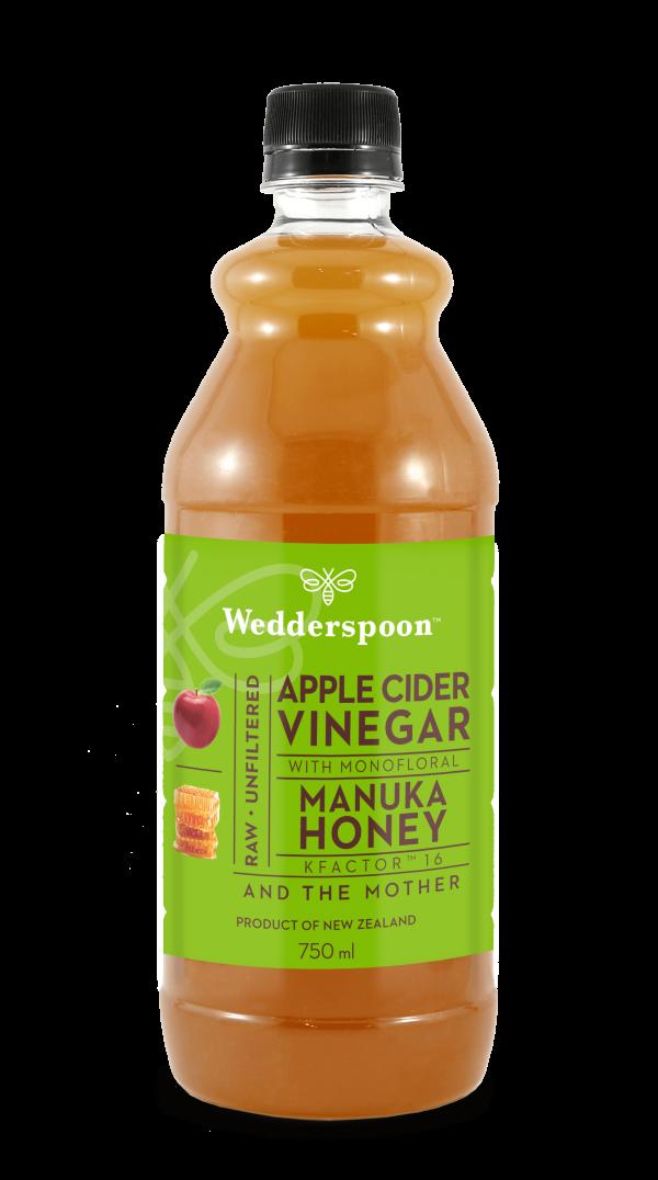Wedderspoon jabolčni kis z manuka medom KFactor™ 16, 750 ml
