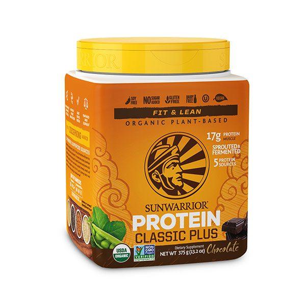 Sunwarrior Classic PLUS rastlinske beljakovine - Čokolada 375 g
