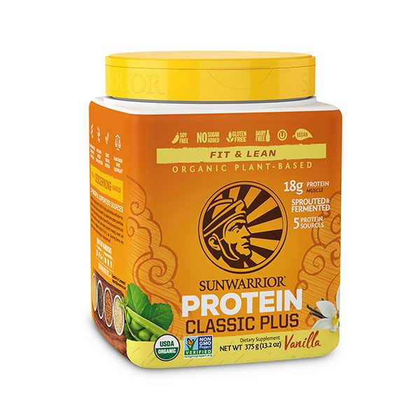 Sunwarrior Classic PLUS rastlinske beljakovine - Vanilija 375 g