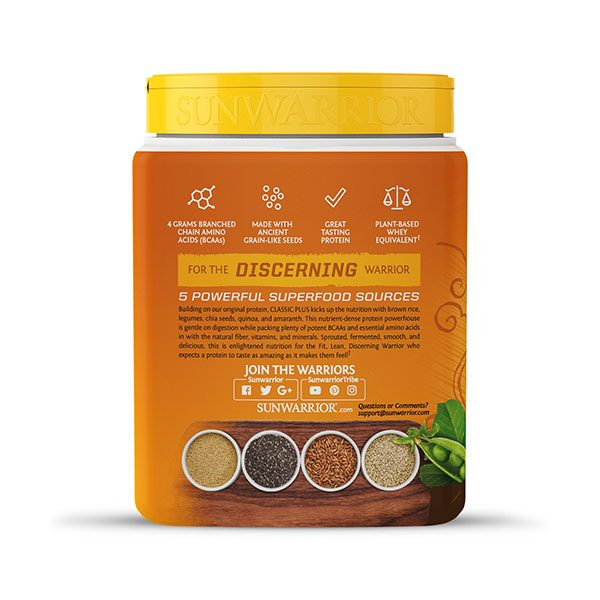 Sunwarrior Classic PLUS rastlinski proteini - Čokolada 375 g - 3