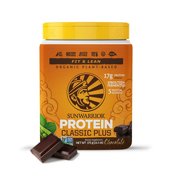 Sunwarrior Classic PLUS rastlinski proteini - Čokolada 375 g