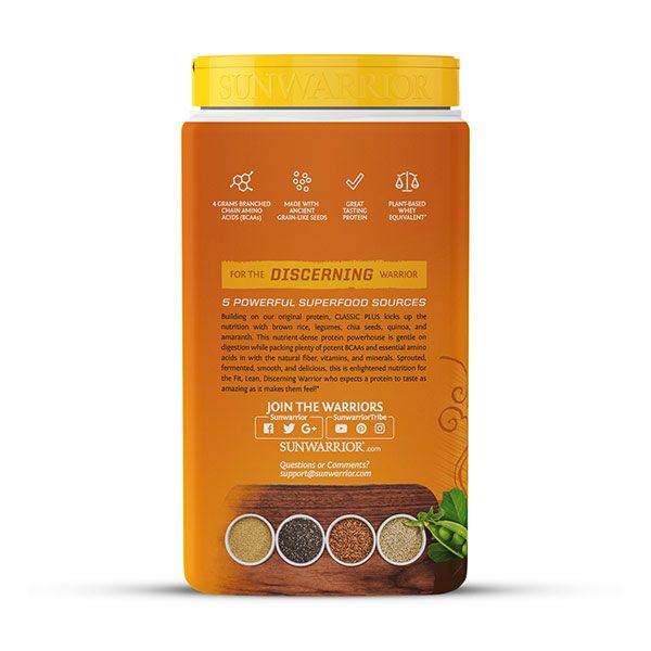 Sunwarrior Classic PLUS rastlinski proteini - Čokolada 750 g - 3