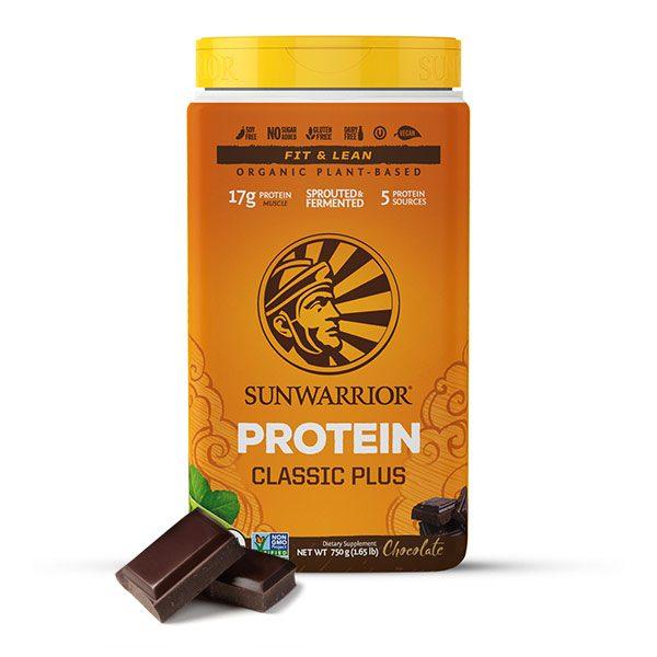Sunwarrior Classic PLUS rastlinski proteini - Čokolada 750 g