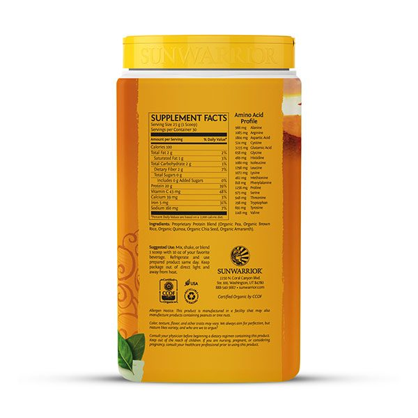 Sunwarrior Classic PLUS rastlinski proteini - Naravni 750 g - 2