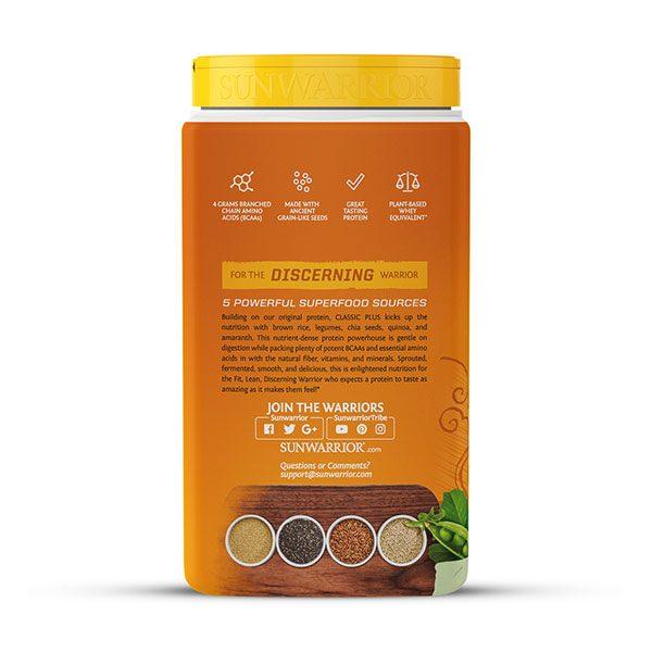 Sunwarrior Classic PLUS rastlinski proteini - Naravni 750 g - 3