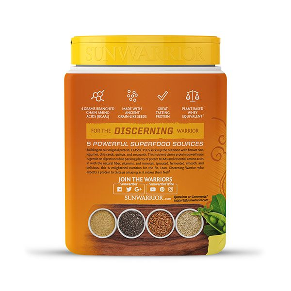 Sunwarrior Classic PLUS rastlinski proteini - Vanilija 375 g - 3