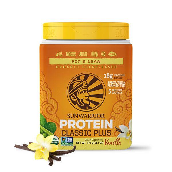 Sunwarrior Classic PLUS rastlinski proteini - Vanilija 375 g