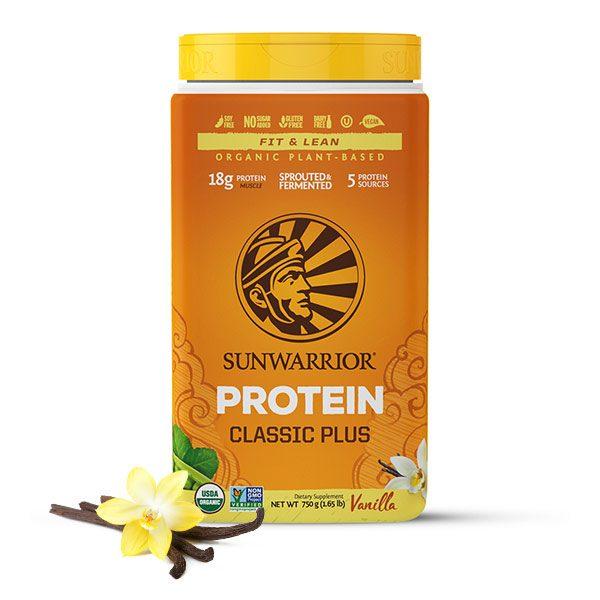 Sunwarrior Classic PLUS rastlinski proteini - Vanilija 750 g
