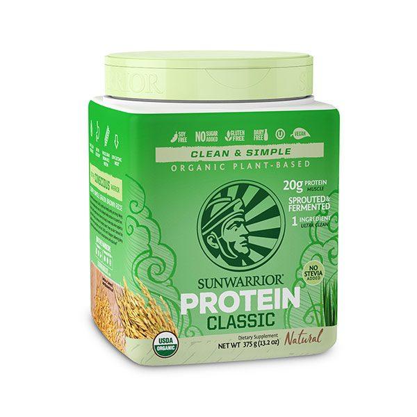Sunwarrior Classic rastlinske beljakovine - Naravni 375 g