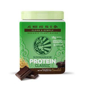 Sunwarrior Classic rastlinski proteini - Čokolada 375 g