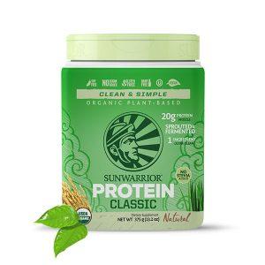 Sunwarrior Classic rastlinski proteini - Naravni 375 g