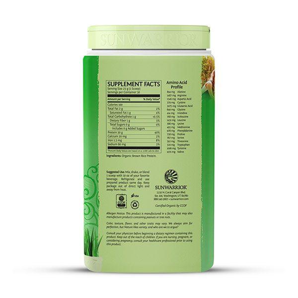 Sunwarrior Classic rastlinski proteini - Naravni 750 g - 2