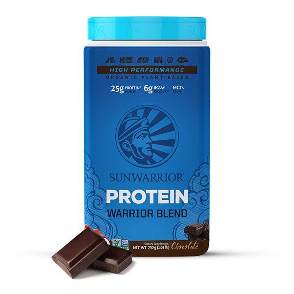 Sunwarrior Warrior Blend rastlinski proteini - Čokolada