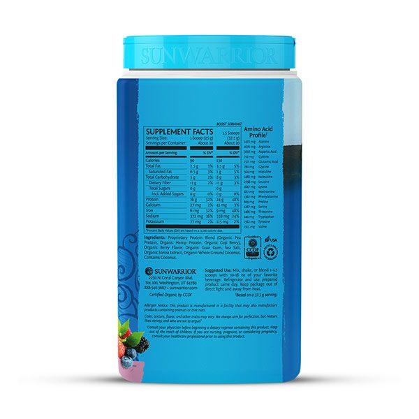 Sunwarrior Warrior Blend rastlinski proteini - Jagodičevje 750 g - 2