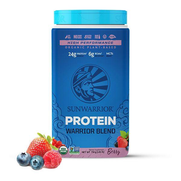 Sunwarrior Warrior Blend rastlinski proteini - Jagodičevje 750 g