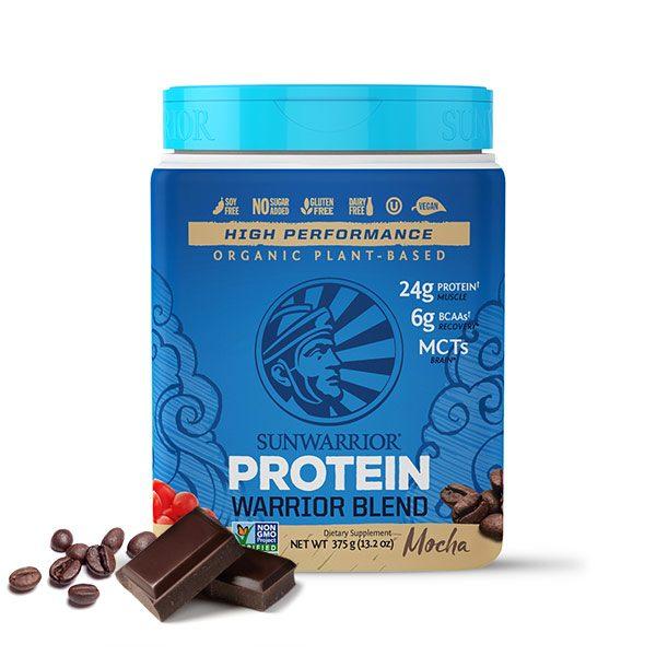 Sunwarrior Warrior Blend rastlinski proteini - Mocha 375 g
