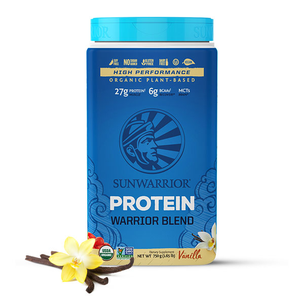 Sunwarrior Warrior Blend rastlinski proteini - Vanilija 750 g