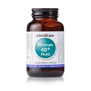 Ženski multivitamini 40+ Viridian 60 kapsul
