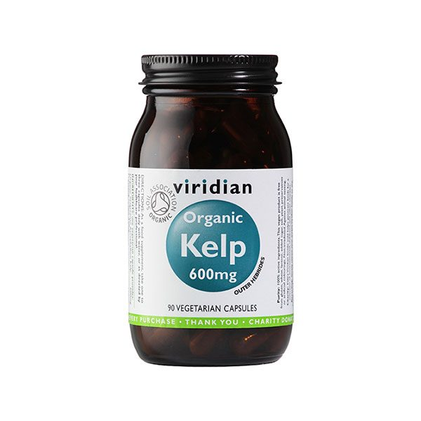 Ekološki Kelp, 600 mg Viridian, 90 kapsul
