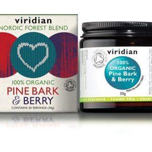 Ekološko lubje bora z jagodičevjem Viridian, 30 g