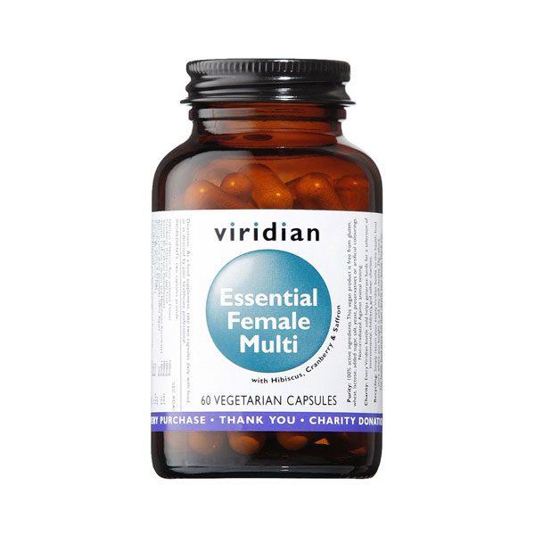 Esencialni ženski multivitamini Viridian 60 kapsul