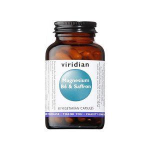 Magnezij z B6 in žafranom Viridian, 60 kapsul