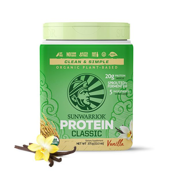 Sunwarrior Classic rastlinski proteini - Vanilija 375 g