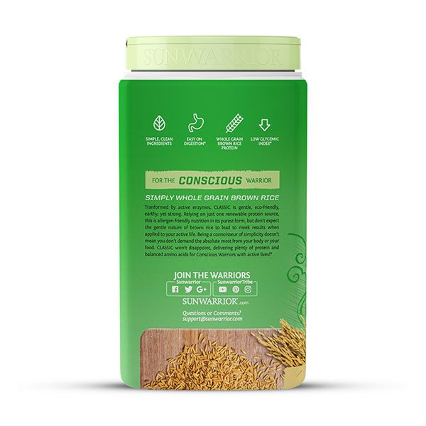Sunwarrior Classic rastlinski proteini - Vanilija 750 g - 3