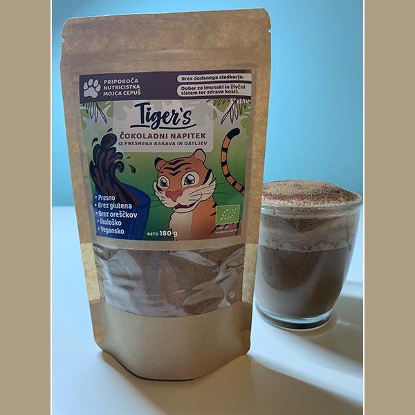 Tiger's čokoladni napitek iz presnega kakava in datljev, 180 g