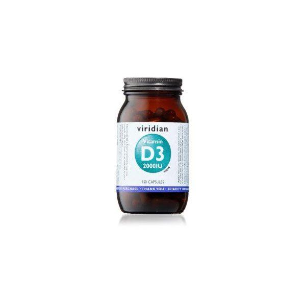 Viridian Vitamin D3 150 kapsul