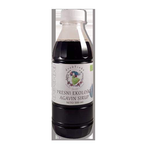 Agavin sirup Drobtinka - presni, ekološki, 500 ml