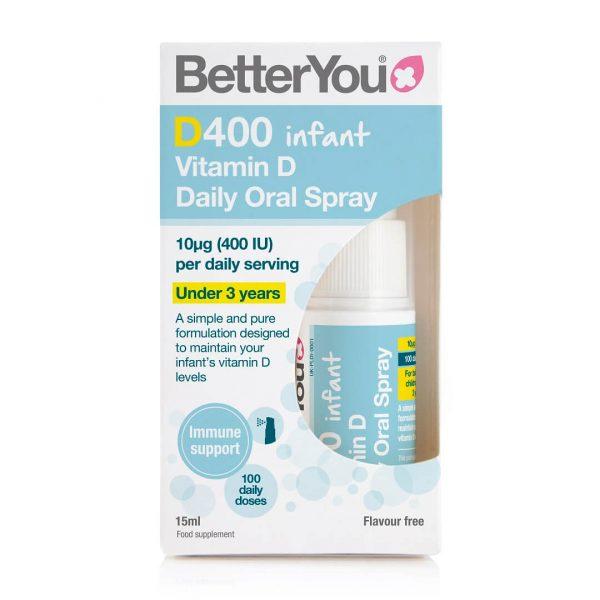 BetterYou D400 Vitamin D Infant škatlica
