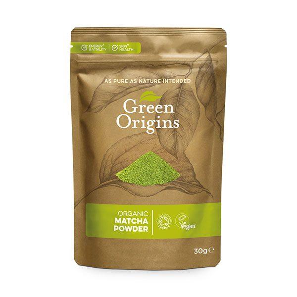 Ekološka matcha Ceremonial Grade v prahu Green Origins 30 g