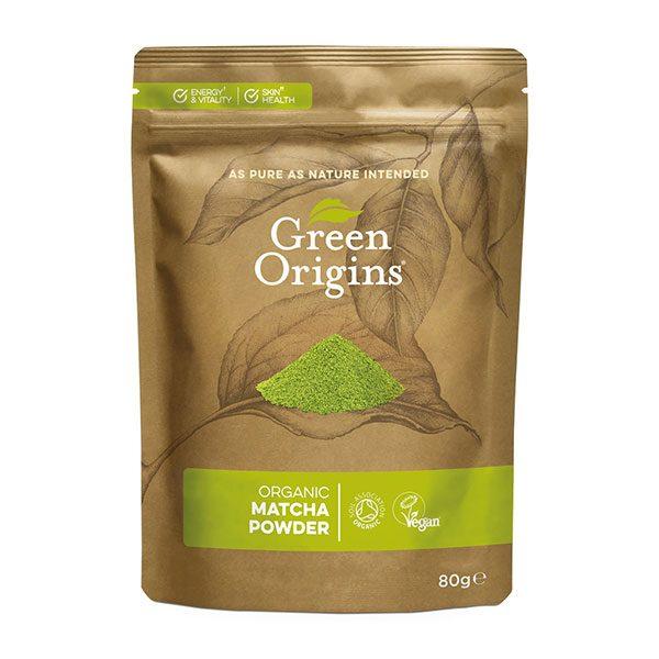 Ekološka matcha Ceremonial Grade v prahu Green Origins 80 g
