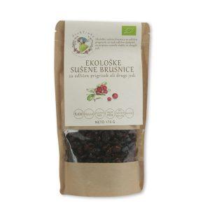 Ekološke sušene brusnice Drobtinka, 170 g