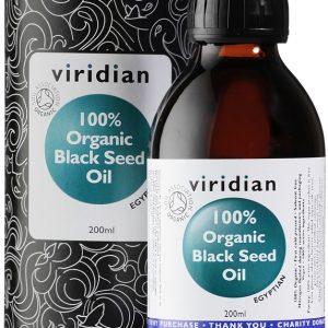 Ekološko olje črne kumine Viridian, 200 ml