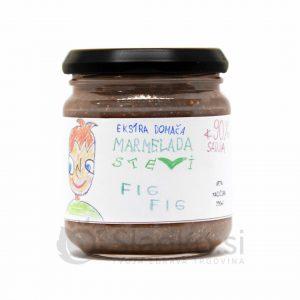 Figova marmelada brez dodanega sladkorja s stevijo, ekstra domača, 90% sadni delež, Stevi, 200 ml