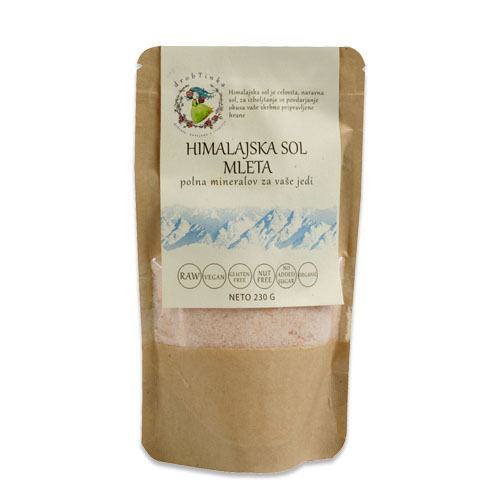 Himalajska sol Drobtinka - nerafinirana, mleta, 230 g