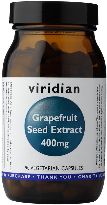 Izvleček grenivkinih pešk, 400 mg Viridian (90 kapsul)