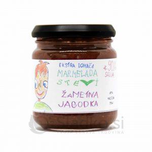 Jagodna marmelada brez dodanega sladkorja s stevijo, ekstra domača, 90% sadni delež, Stevi, 200 ml
